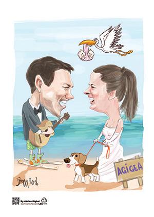 Caricatura cadou pentru cupluri