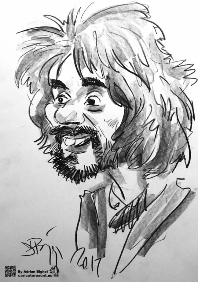 Caricatura alb-negru by Adrian Bighei