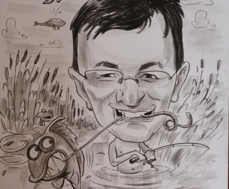 Caricatura in creion cu tema