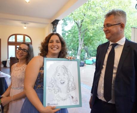 Caricaturi in creion la nunta, Palatul Bragadiru
