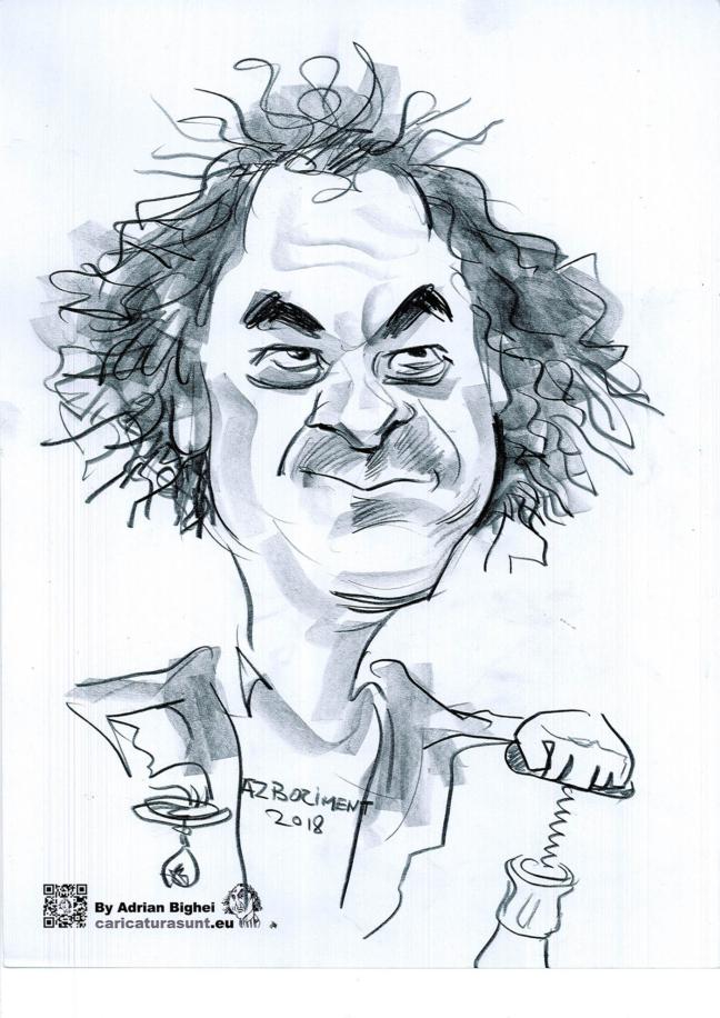 Carictura - portret in creion by Adrian Bighei
