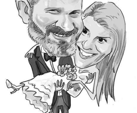 Caricatura – portret cuplu
