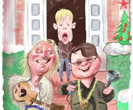 Fuego si Hrusca – caricatura vazuta de Adrian Bighei