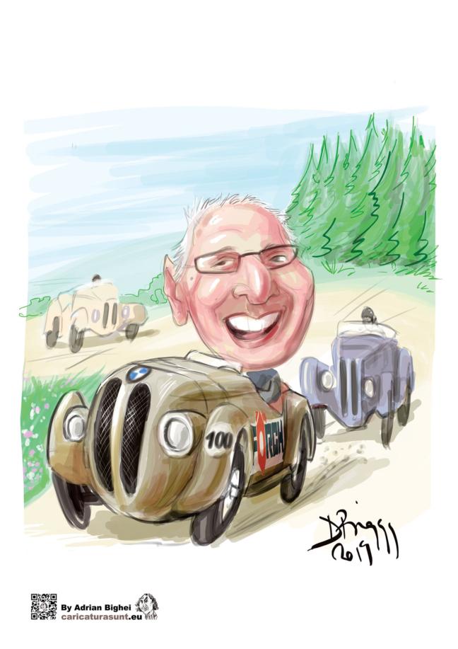 Caricatura pilotului Ion Dobran