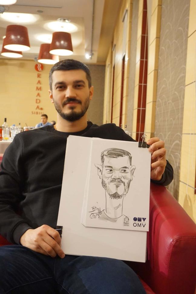 Caricaturi evenimente firma by Adrian Bighei