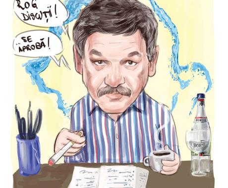 Caricatura digitala color cu tema