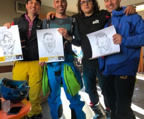 Caricaturist la SnowFest – Franta
