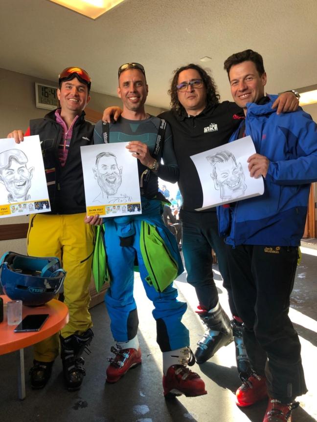 Caricaturist la evenimente - SnowFest, Franta