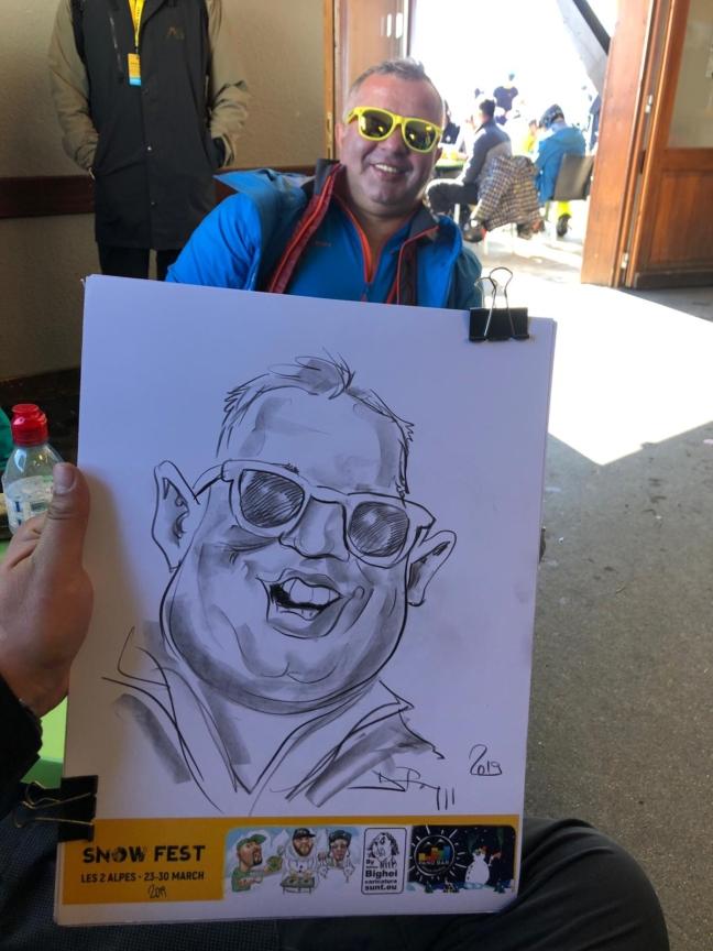 Caricaturist la minut - SnowFest, Franta