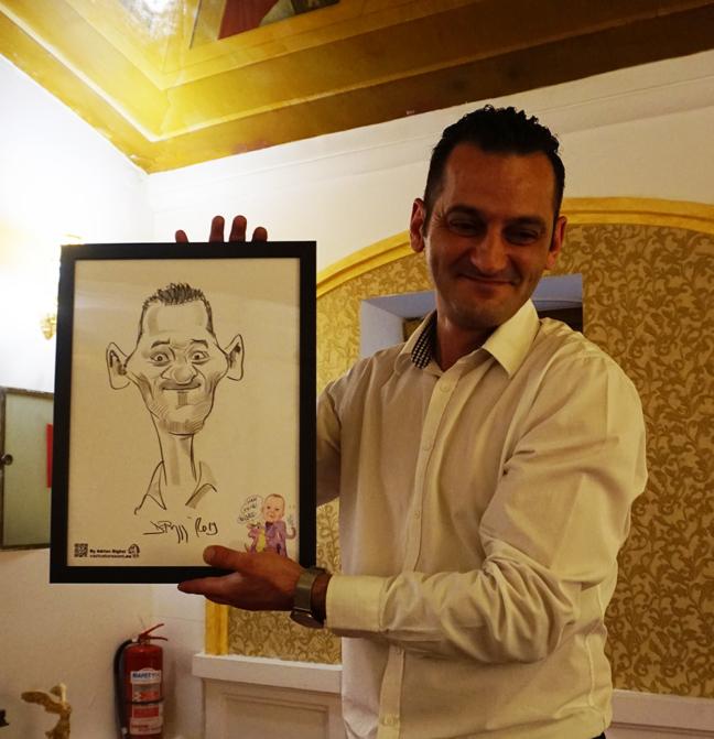 Caricaturi botez si nunta realizare de Adrian Bighei