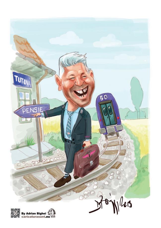 Caricatura cadou pentru pensionare by Biggy