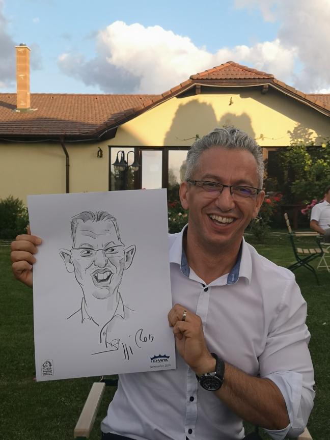 Caricaturi alb-negru evenimente corporate by Adrian Bighei