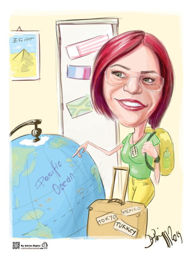Caricatura - cadou personalizat dupa fotografie