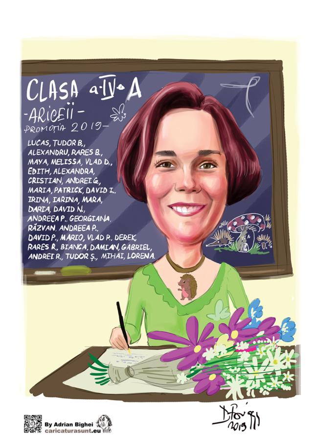 Caricatura - cadoul care surprinde by Caricaturasunt.eu