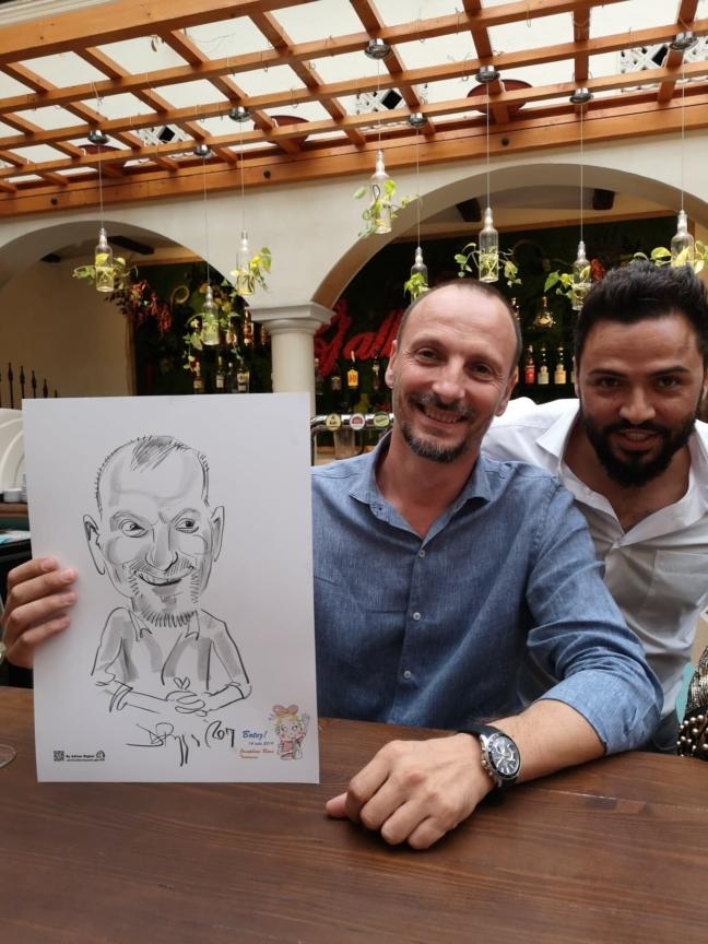 Caricatura live la evenimente by Adrian Bighei