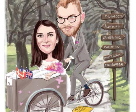 Caricatura – cadoul de nunta