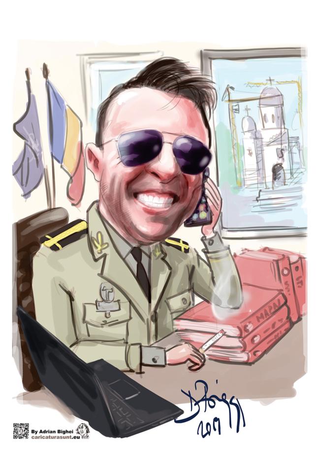 Caricatura portret la comanda