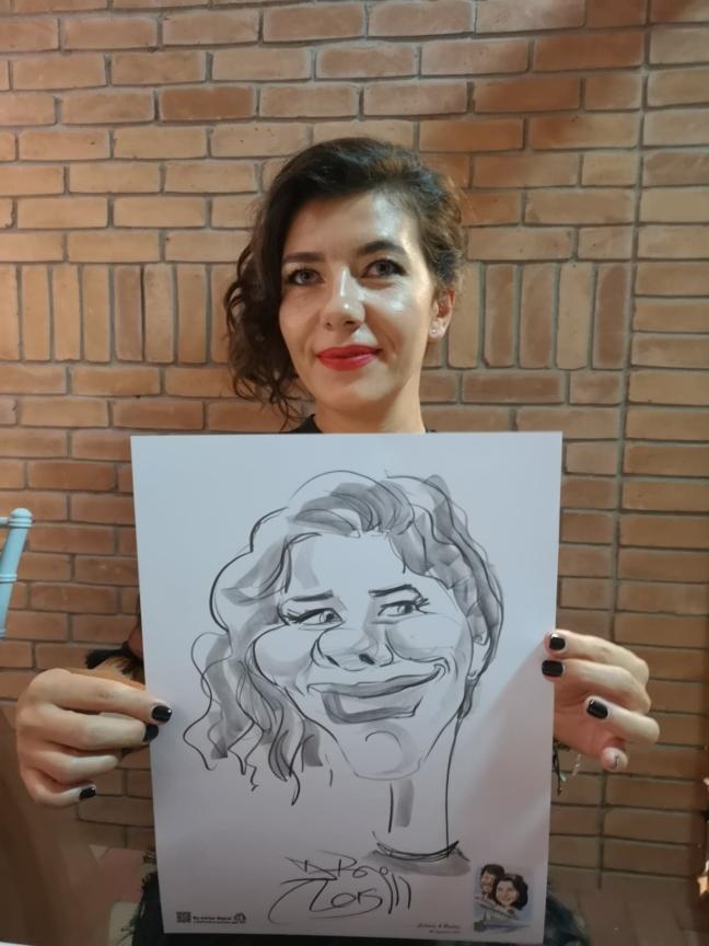 Caricaturi la minut, marturii nunta by Adrian Bighei