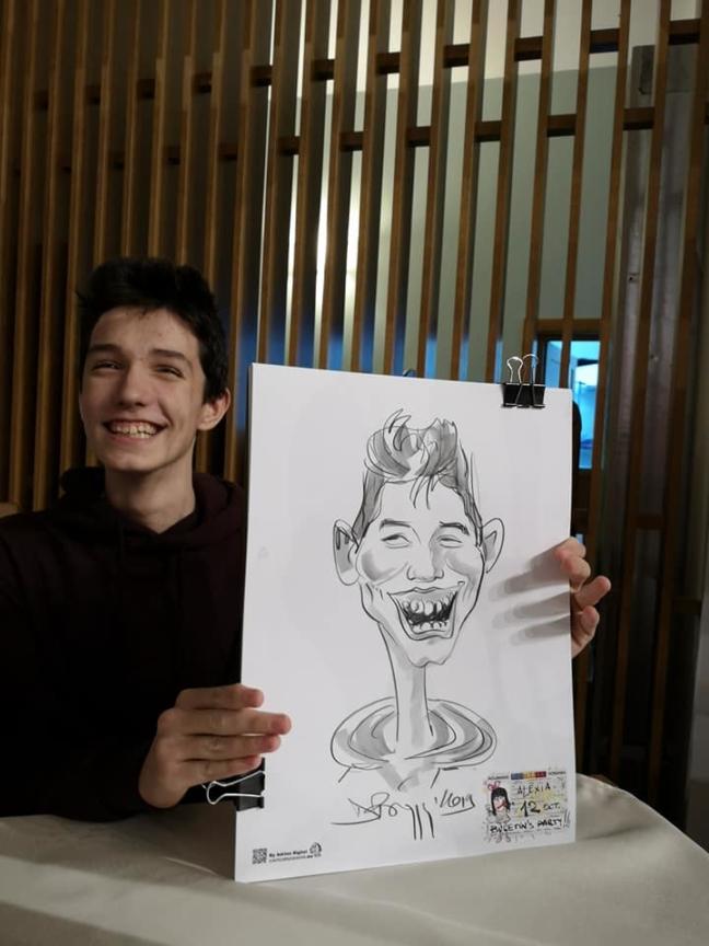 Caricaturi la petrecere , Focsani by Adrian Bighei