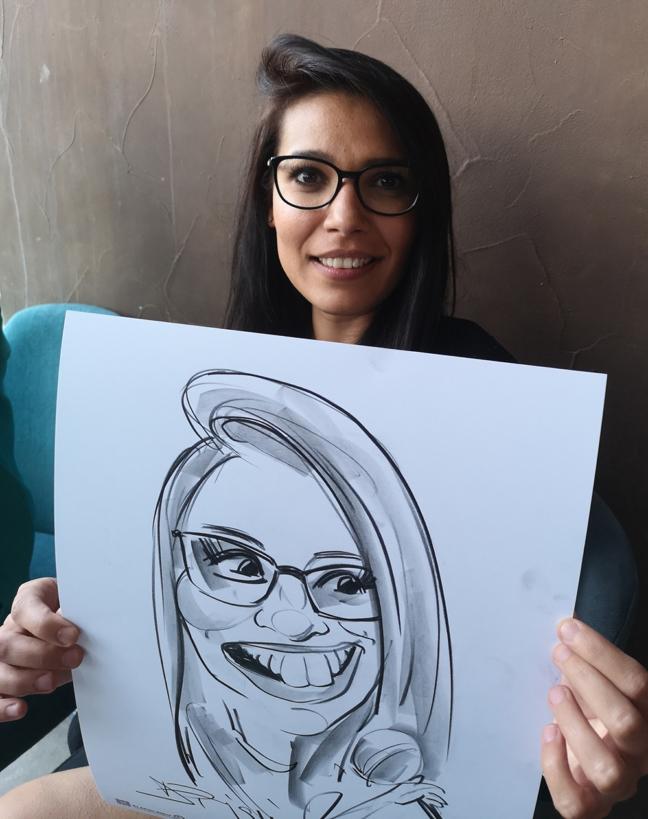 Caricaturi in creion - marturii la nunta by Adrian Bighei