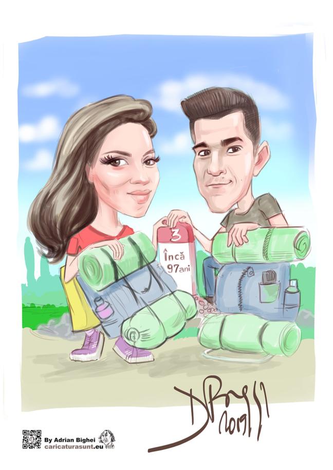 Caricatura cadou by Adrian Bighei