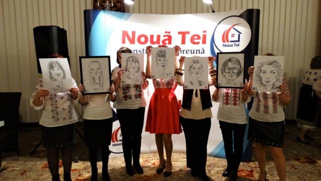 Caricaturi eveniment corporate - Noua Tei, Ramnicu Sarat, Buzau