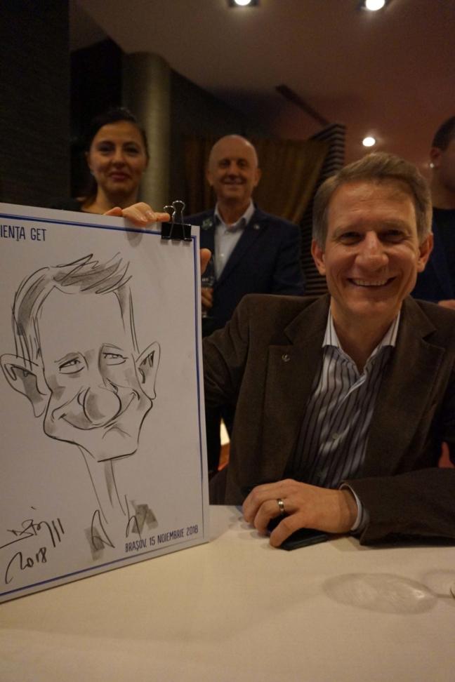 Caricaturi la evenimente corporate