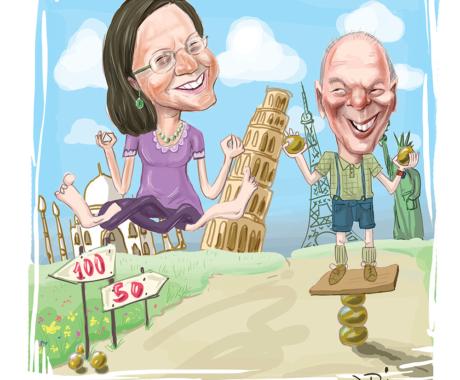 Caricatura aniversara – nunta de aur. Caricaturi cu tematica