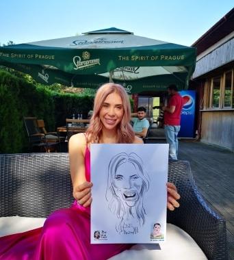 Caricaturist la evenimente, Pitesti