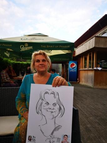 Caricaturi la evenimente - caricaturist Adrian Bighei