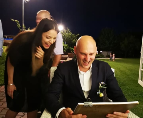 Caricaturist la nunta, Timisoara