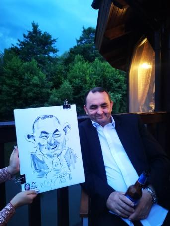 Caricaturist la botez, Adrian Bighei