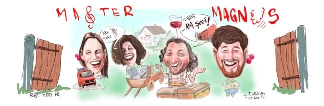 Caricatura de familie dupa fotografie