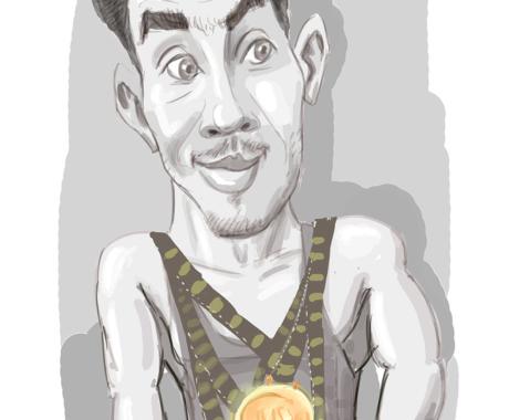 Caricatura digitala alb-negru