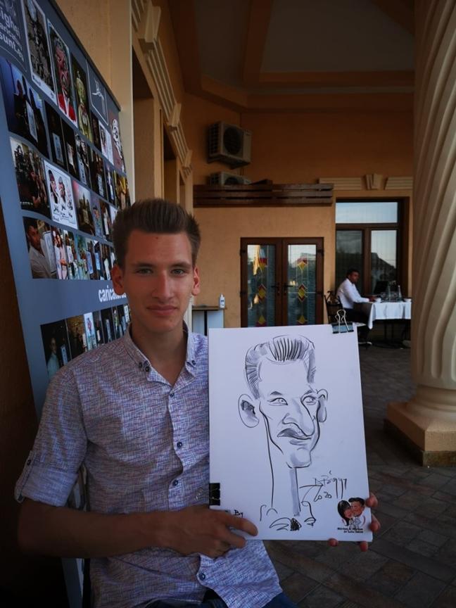 Caricaturist nunta cu Adrian Bighei