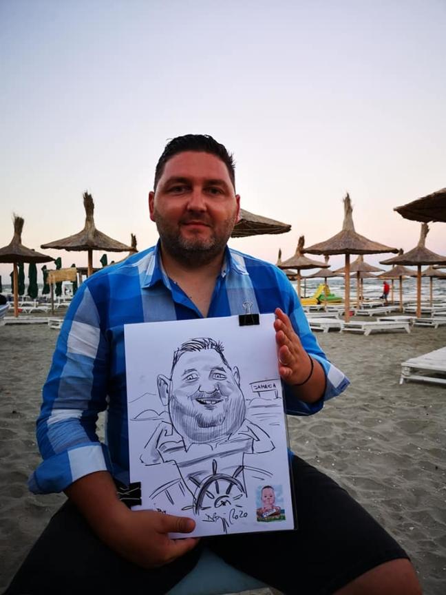 Caricaturi la botez - caricaturist Adrian Bighei