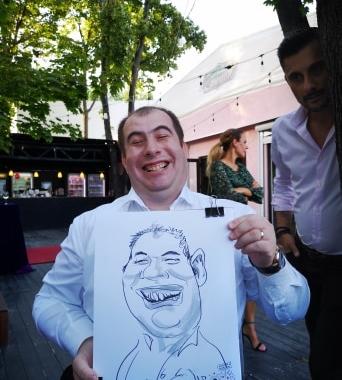 Caricaturist la evenimente, nunti, botezuri