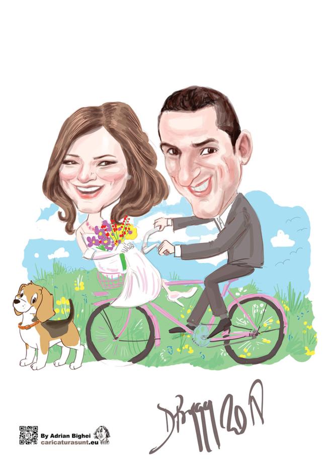 Caricatura - cadoul de nunta ideal