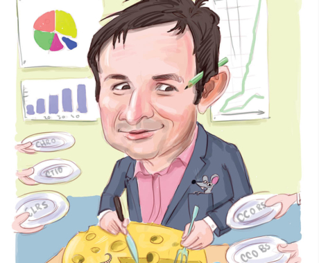 Comanda online cadoul ideal – caricatura