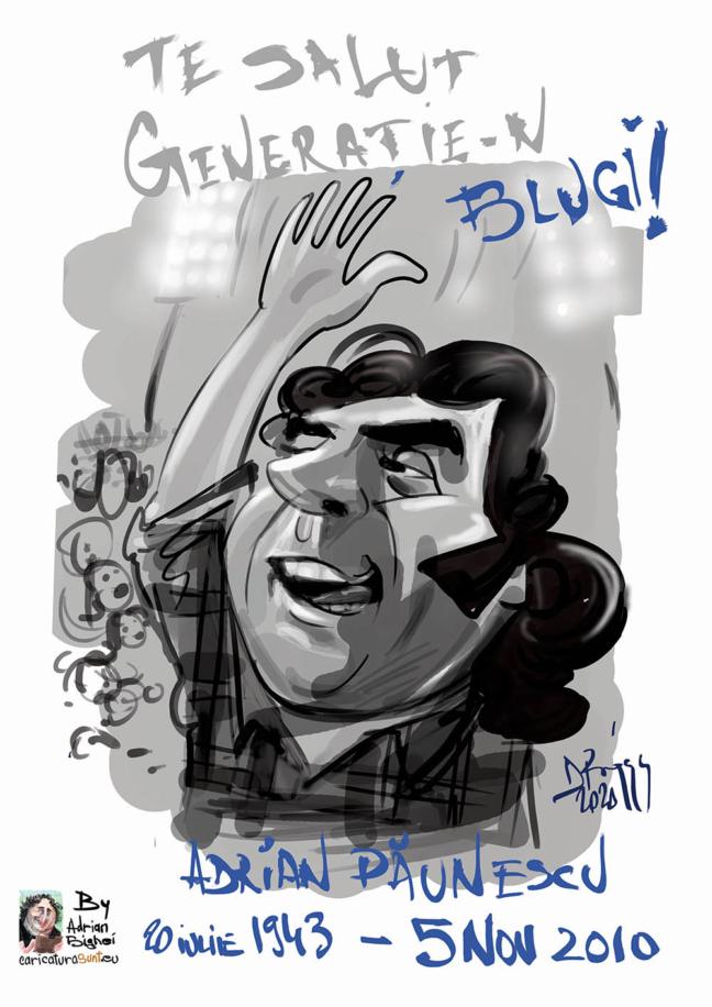 Caricatura Adrian Paunescu