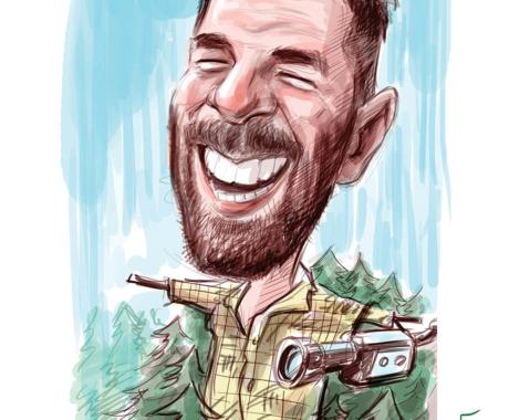 Caricatura lui Alex Dima