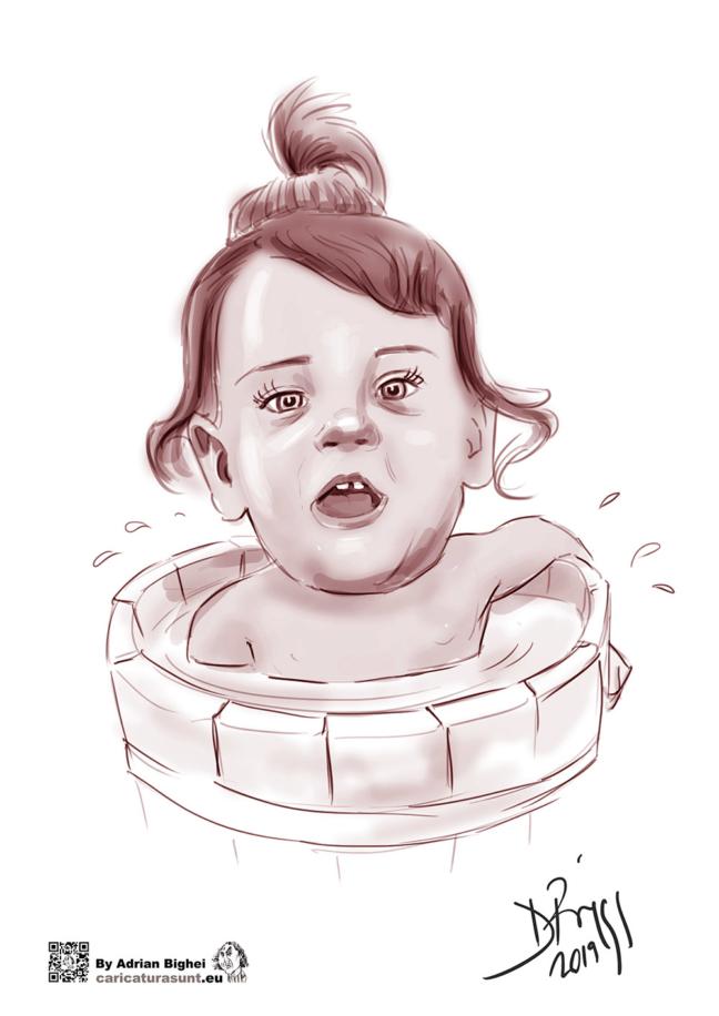 Caricatura la comanda pentru copii