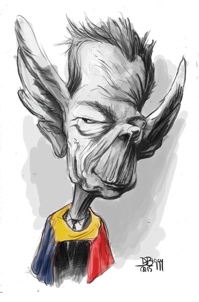 Caricatura - Regele Mihai