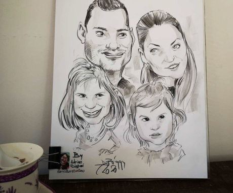 Alege cadoul perfect pentru familia ta – caricatura dupa fotografie