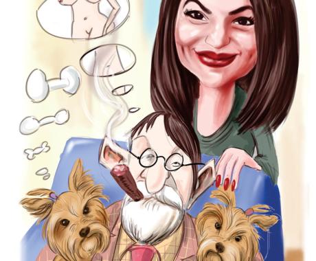 Cadoul perfect – caricaturi si portrete la comanda