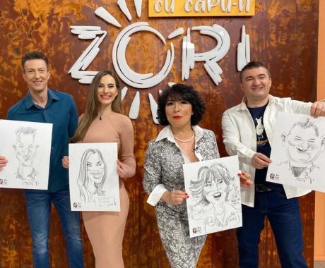 """Caricaturi TVR1 – emisiunea """"Cu capu-n zori"""""""