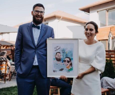 Caricaturi digitale color – cadou de nunta