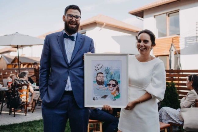 Caricaturi digitale color - cadou de nunta