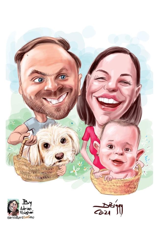 caricatura la comanda familie