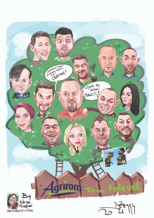 caricaturi de grup